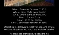 6th Annual Silver Rails Model Train Show and Swap Meet OCT 17th 2015